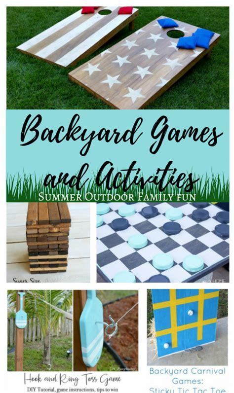 fun backyard activities diy backyard games and activities summer outdoor family fun