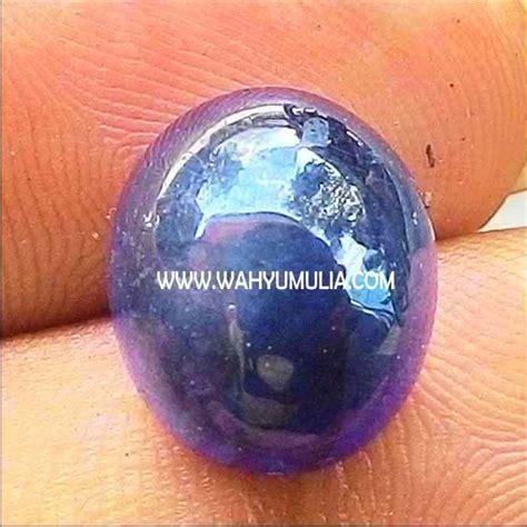 Blue Safir Sapphire Birma batu blue safir kode 308 wahyu mulia