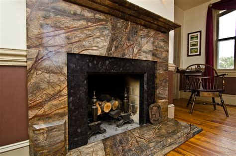 Brown Marble Fireplace by Rainforest Green Granite Leathered Antique Brown Granite