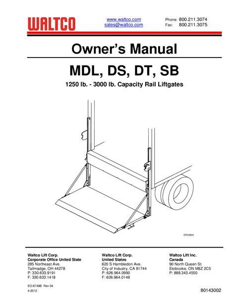 waltco lift gate wiring diagram maxon lift wiring diagram