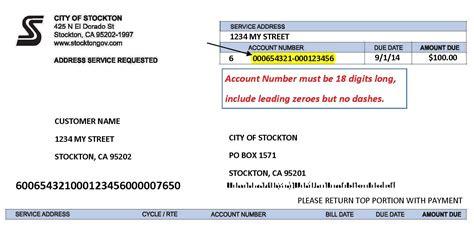 light bill payment bill pay options city of stockton ca