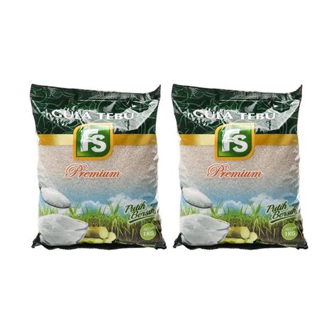 Gula Pasir 1 4 Kg jual fs premium gula pasir 1 kg 2 pcs harga kualitas terjamin blibli