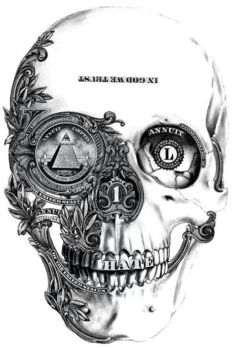 tattoo money logo the root of all evil skulls skeletons pinterest