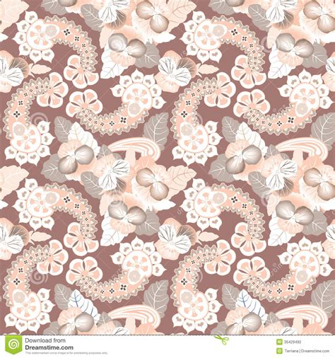 pattern over video flower seamless background abstract ornament flower lily