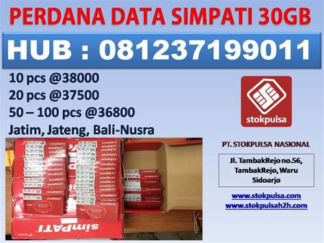 Paket Data Simpati 30 Gb server pulsa nasional dan retail termurah se indonesia