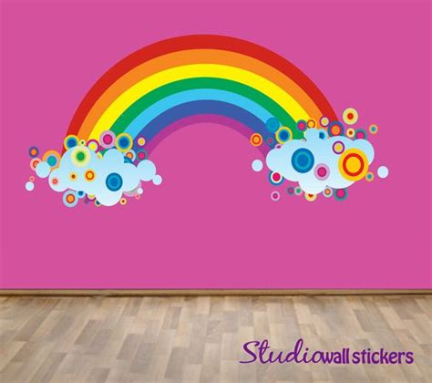 large rainbow wall stickers reusable rainbow wall decal childrens fabric wall decal