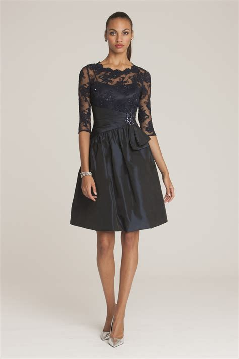 Lace Dress Dress Dress Cny Dress navy lace and taffeta belted dress
