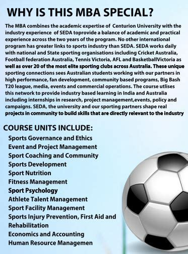 Mba In Sports Management Scope by Mba In Sports Management With An International Internship