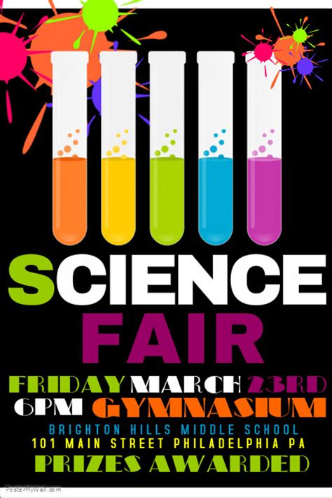 Science Fair Banner Template science fair postermywall