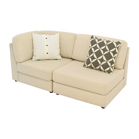 west elm sofa bed 76 off west elm west elm cream chaise sofa or two
