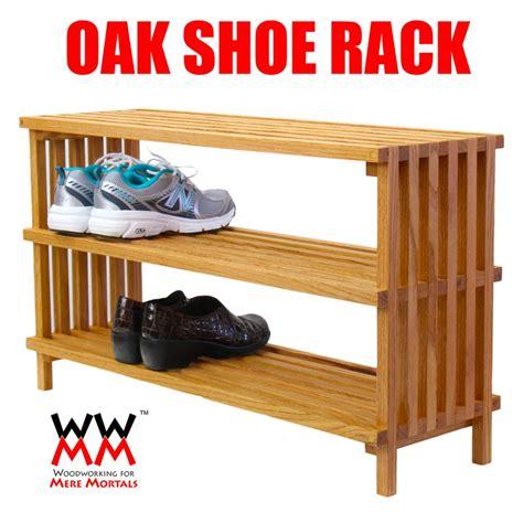 shoe rack woodworking  mere mortals