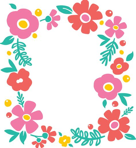 floral pattern border png free svg flower cut file for silhouette or cricut persia lou