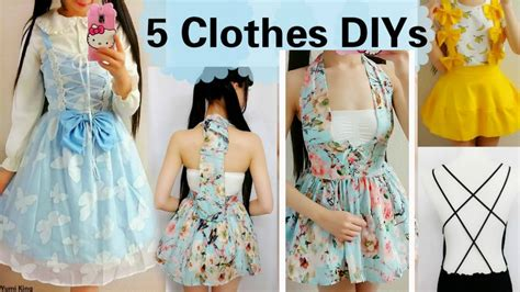 Clothing Upcycle - 5 diy clothes transformations how to transform upcycle your old clothes youtube