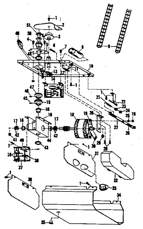 Craftsman Garage Door Opener Parts Diagram Craftsman Sears Electronic Garage Door Opener Parts Model 139663902 Sears Partsdirect