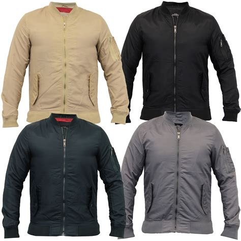 Jaket Bomber Harrington Trasher mens ma1 jacket brave soul harrington padded gothenburg bomber coat ebay