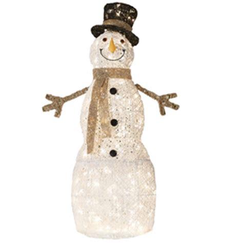 light up snowman outdoor shop living 4 ft lighted snowman freestanding
