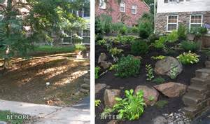 Small Backyard Ideas Before After Front Yard Ideas No Grass Landscape Design