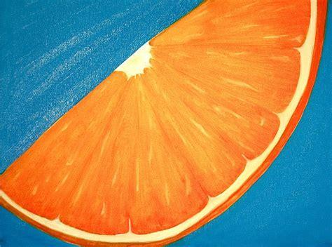 orange slice painting by student