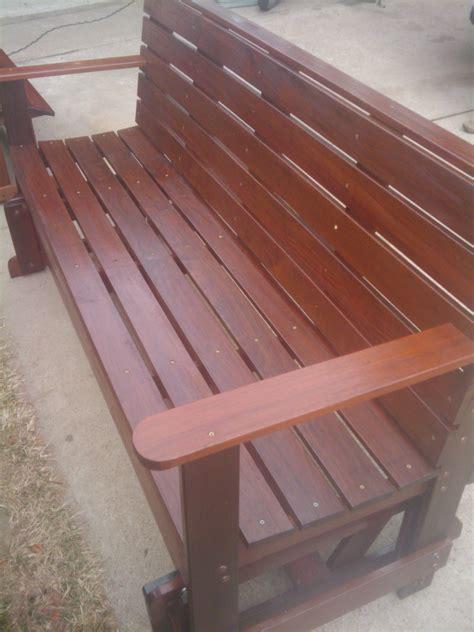 ipe glider  bench set edeckcom