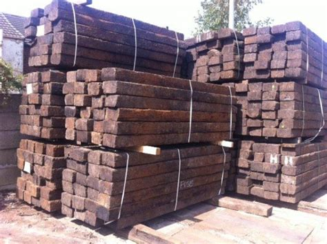 Railway Sleepers Uk Prices by Reclaimed Class 1 Railway Sleepers 10 Quot X5 Quot X 8ft 6 Quot Ebay