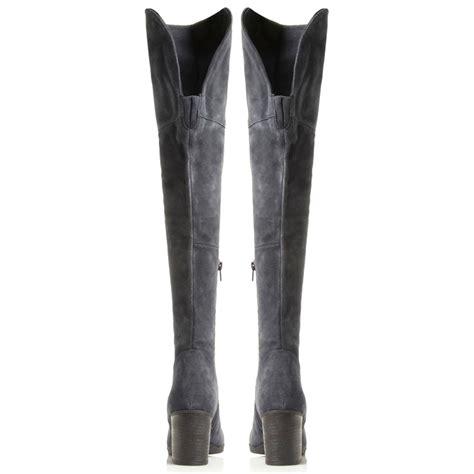 Block Octagon Navy steve madden octagon block heel the knee boots in