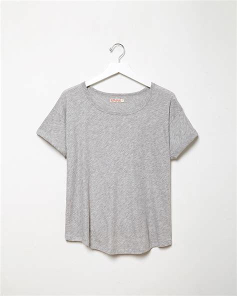 Cole T Shirt La Universal Abu Abu organic by roll sleeve in gray lyst
