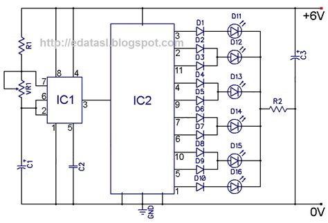 led running display circuit diagram electronic circuit componnent data lesson and etc