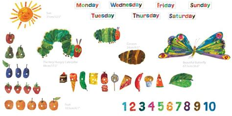 Very Hungry Caterpillar Wall Stickers the very hungry caterpillar room d 233 cor kit