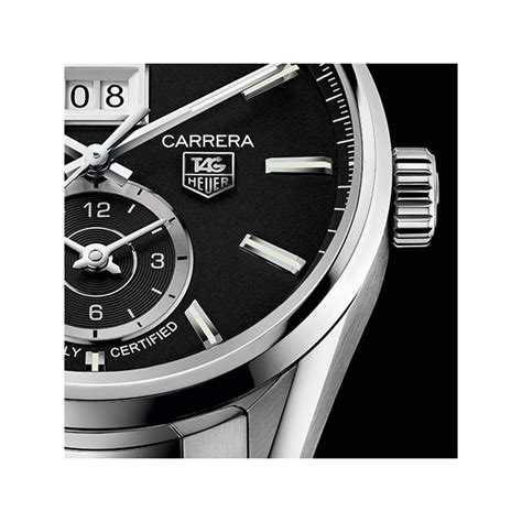 Tag Heuer Grand Calibre 8 Leather Black Gold tag heuer calibre 8 grande date gmt cosc 41mm black leather
