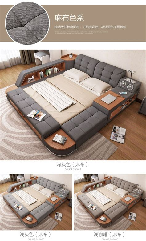 master bed master bedroom multifunctional tatami bed modern simple
