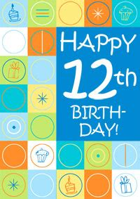 Boys Printable Birthday Cards 12th Birthday Card Boys
