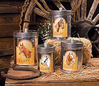 western kitchen canister sets horse country kitchen canister set 22 50 from chick s