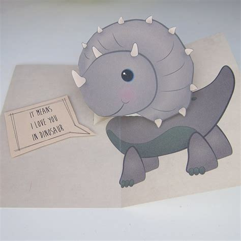 Dinosaur Pop Up Card Template by How To Make A Pop Up Card
