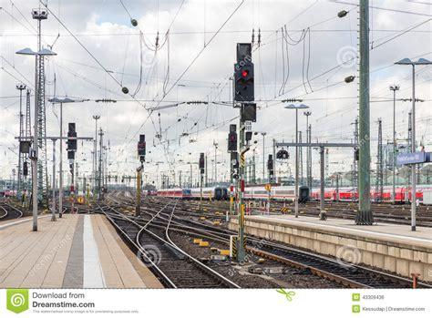 light rail ticket violation traffic light at the railway station royalty free stock
