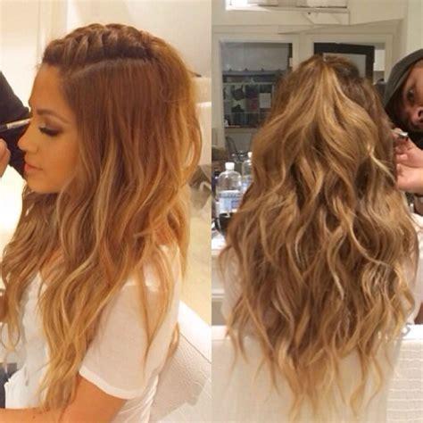 wavy half up do hair style wavy haircut styles in
