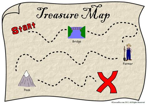 Scavenger Hunt Map Template lessonpix tips ideas talk like a pirate day in school therapy