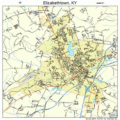 kentucky map elizabethtown elizabethtown kentucky map 2124274
