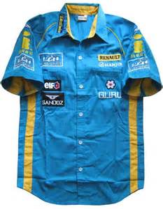 Renault F1 Clothing Renault F1 Pit Team Shirt Professional Formula One