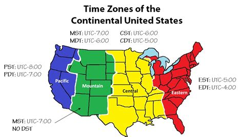 us map with time zones and state abbreviations what is a time zone