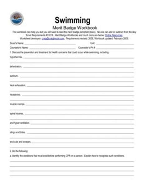 Boy Scout Swimming Merit Badge Worksheet Answers by Read And Publish Merit Badge Magazines Ebooks