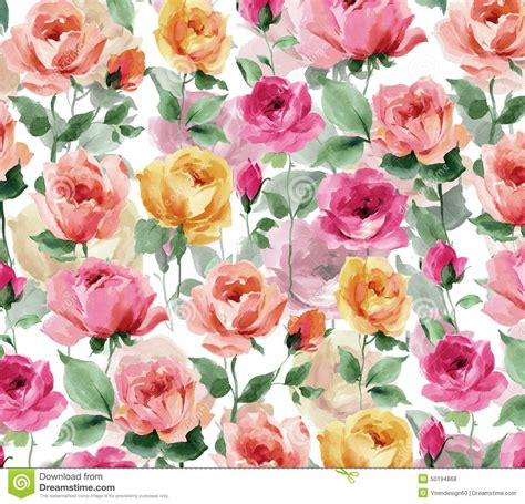 pretty painted floors with flower designs watercolor painting rose blossoms and rose buds on a white