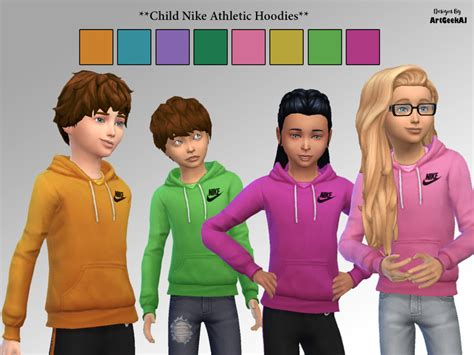 sims 4 children cc artgeekaj s child nike athletic hoodies the sims 4