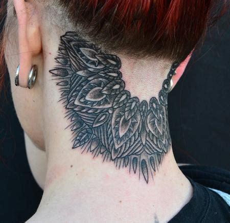 tattoo neck mandala black neck mandala tattoo by jeff johnson tattoos