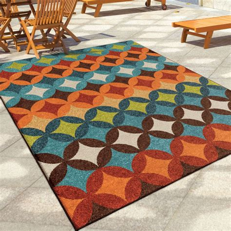 Large Outdoor Area Rugs Orian Rugs Indoor Outdoor Shapes Berkley Multi Area Large Rug 2366 8x11 Orian Rugs