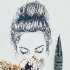 doodle hair bun bun sketch work