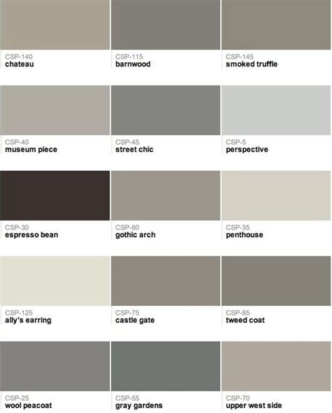 popular benjamin paint colors grey beige greige taupe chips paint colors