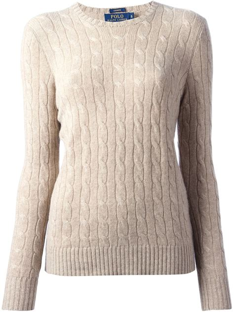 ralph cable knit sweater lyst polo ralph cable knit sweater in