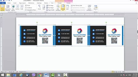 Business Card Template For Microsoft Word Youtube Business Card Templates For Microsoft Word