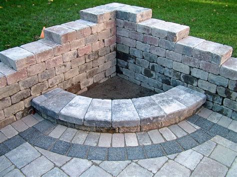 Backyard Firepits Diy Pit Architecture Furniture Interior Corner Fossill White Brick Pit Kit On