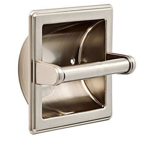 brass and nickel decor franklin brass recessed toilet paper holder satin nickel
